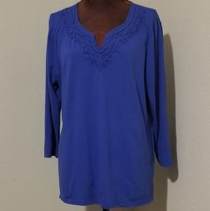 3for$20 Charter Club, blue tunic